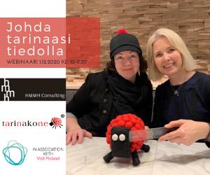 Johda tarinaasi tiedolla Visit Finland Akatemia webinaari 1.12.2020