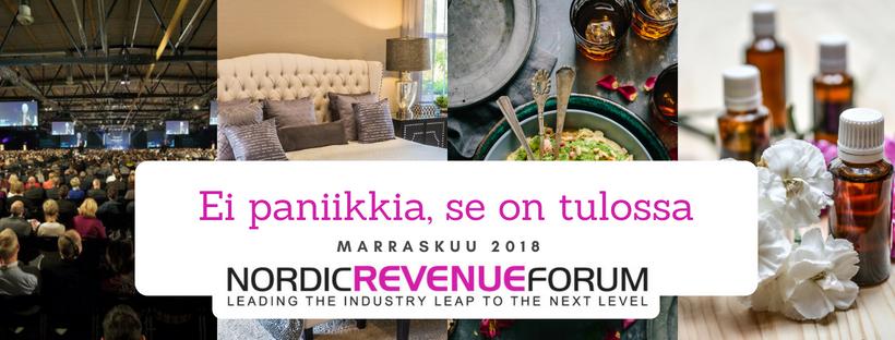 Nordic Revenue Forum - HoReCaSpa-alan tuottojohtamisen erikoistapahtuma Suomessa